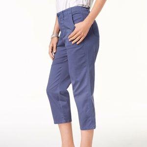 Style & Co Pants - Style & Co Capri Pants Curved Pocket Uniform Blue